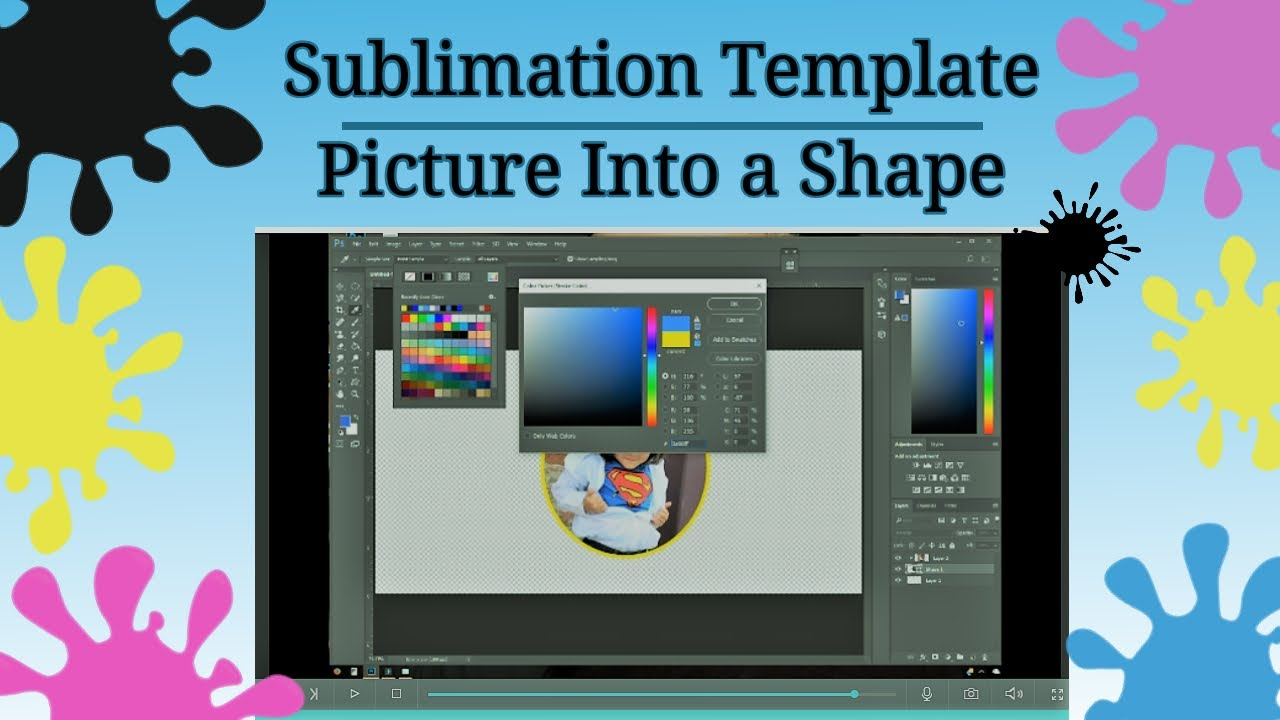 How To Make a Mug Template Design for Sublimation Printing - Part 1 - Cut a  Picture into shape PS