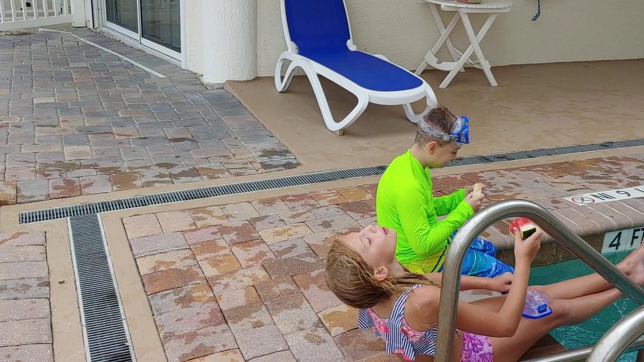 backyard pool party - YouTube