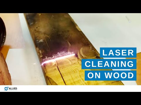 LaserArt Cleaning System - Soot removal from 2X4 Wood