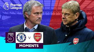 Chelsea vs Arsenal  Top 5 Premier League Moments  Hazard Van Persie Salah