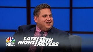 Jonah Hill on Working with Seth and Bill Hader on SNL - Late Night with Seth Meyers