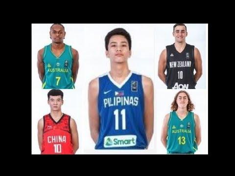 2018 FIBA All-Asia U17 First Team (Unofficial)