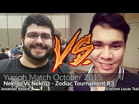 Jonathan Moore (Nekroz) Vs Everton Lucas Tsai (Nekroz) - Yugioh Zodiac October 2015 Tournament R3