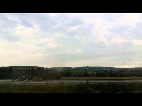 "Bullet train ""TGV"" from Paris down to Marseille"