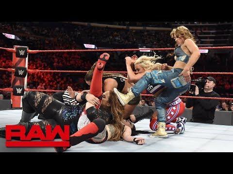 Nia Jax, Natalya, Banks, Bayley & Ember Moon vs. Bliss, James & Riott Squad: Raw, April 24, 2018