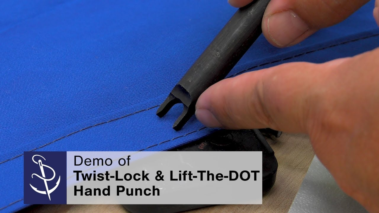 Demo of Twist-Lock & Lift‑The‑DOT Fastener Hand Punch
