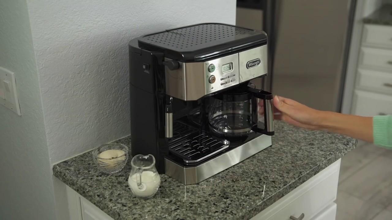 318503768cec DeLonghi Combination Coffee and Espresso Machine | HSN - YouTube