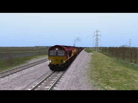 TS 2017 - EWS 66167 Revving out of Oxford Station on heavy BR Freight Service