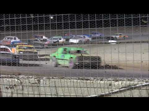 A. Miller (Driving #22) and C. Newton (Driving #52) in the Street Stock Main @ Route 66 Motor Speedway in Amarillo, TX. 4 Street Stock drivers drove up from ... - dirt track racing video image