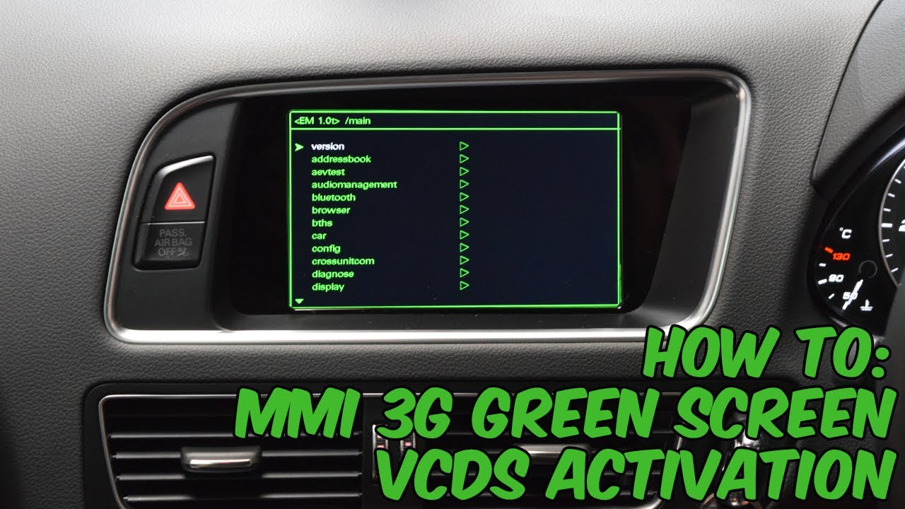 How To Activate Audi Mmi 3g Green Screen Youtube