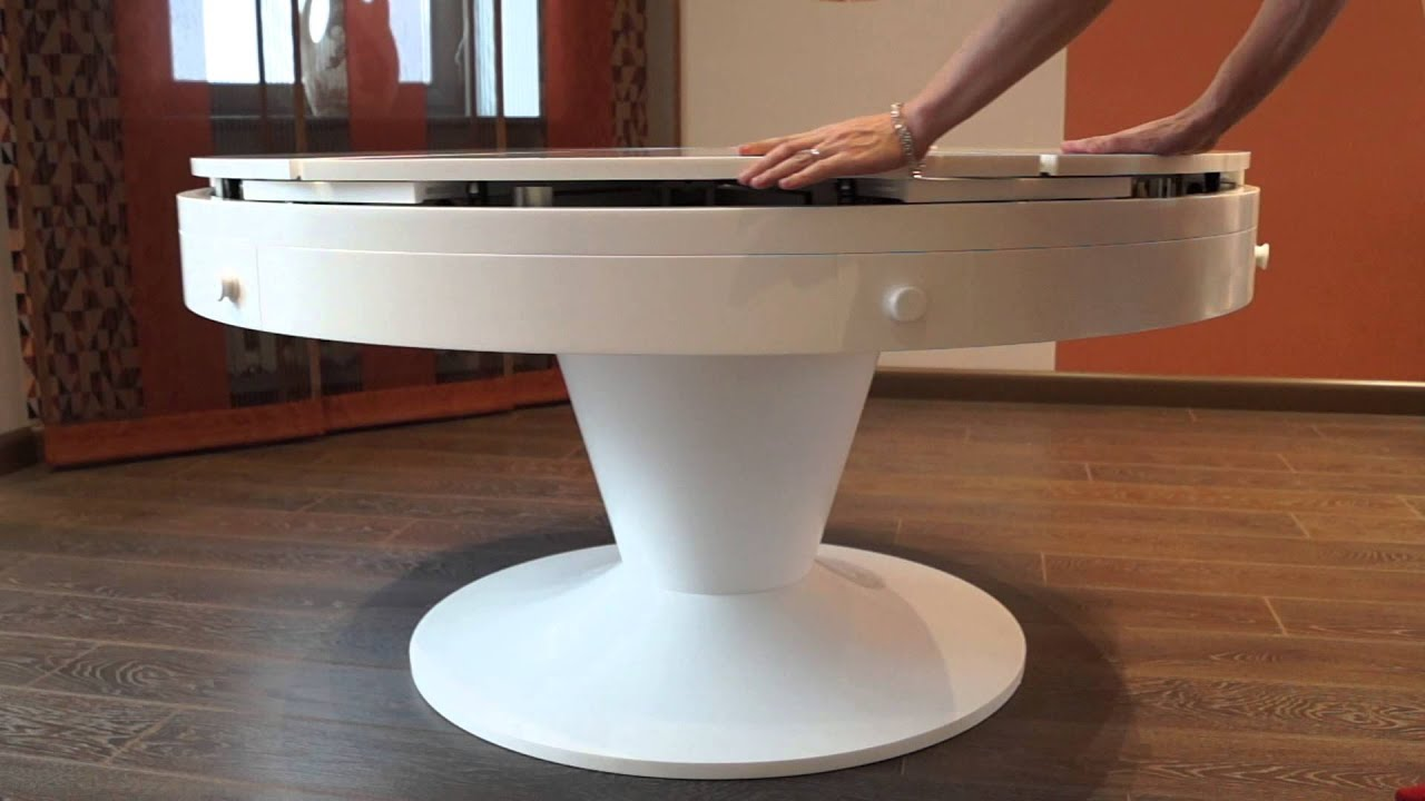 Кухонные столы. Стол круглый раскладной К 3 - YouTube