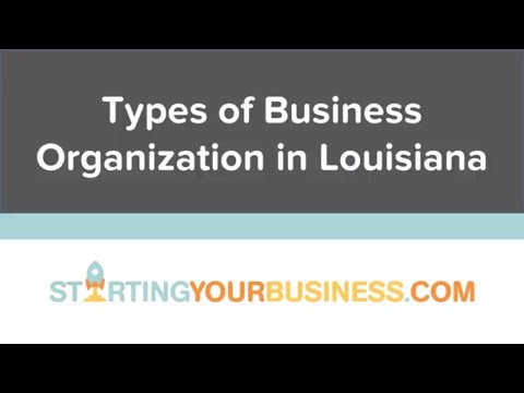 Types of Business Organization in Louisiana - Starting a Business in Louisiana