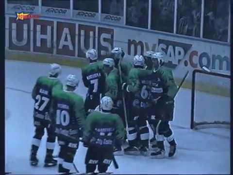 4 Spieltag DEL 1999 2000 Adler Mannheim vs ESC Moskitos Essen