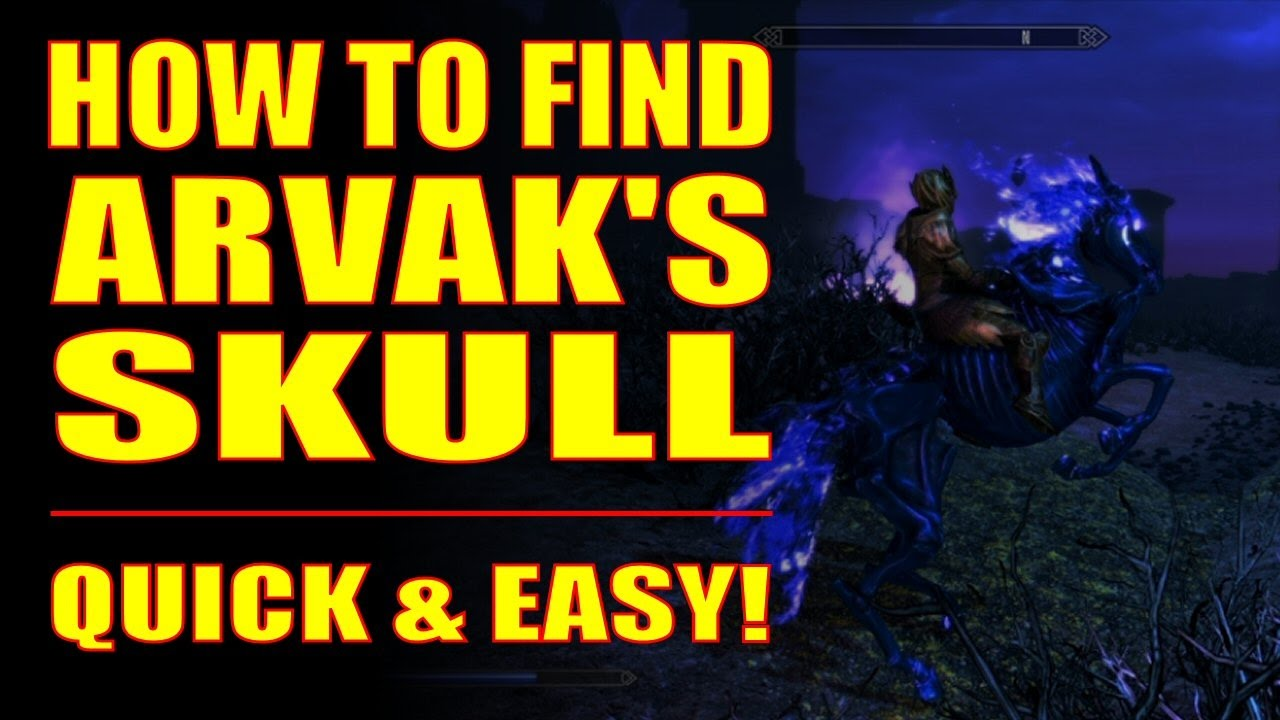 Skyrim SE - How to Find Arvak's Skull - Clear Step-by-step Instructions w/  Commentary!