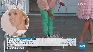 StoreSmith 3Tier Storage Market Baskets with Stand