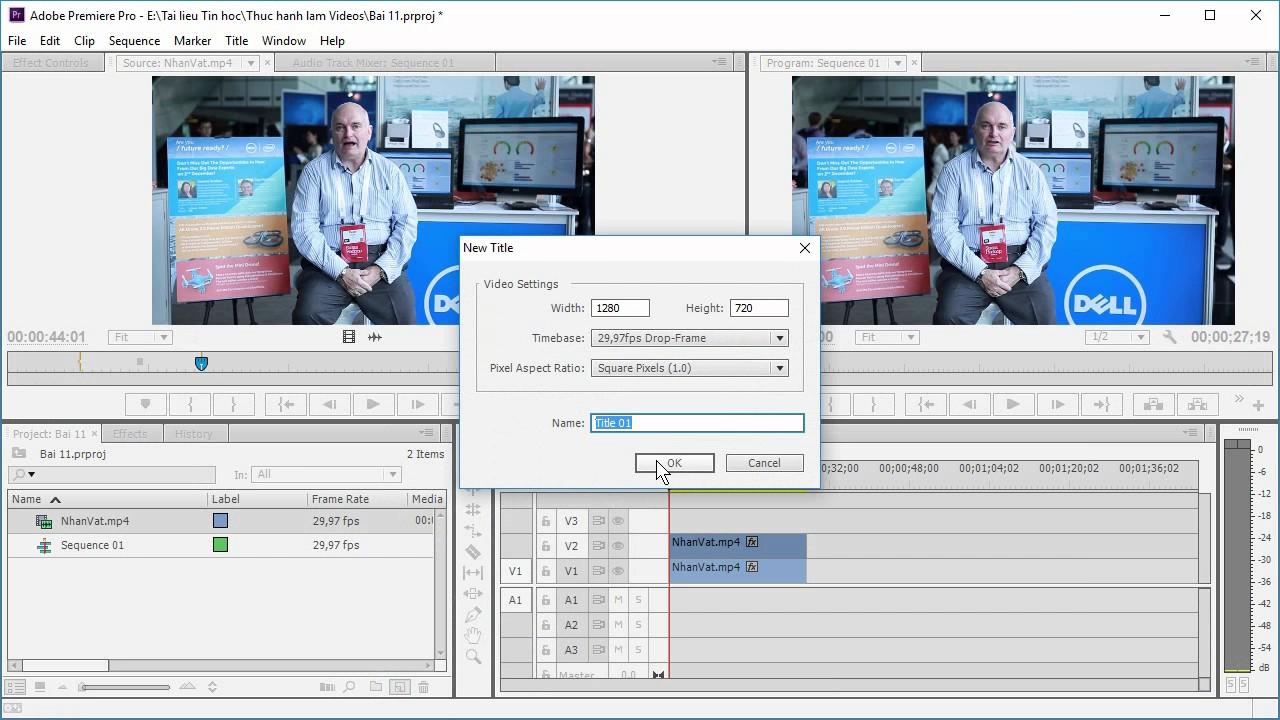 Adobe Premiere: Bài 11. Thiết lập hiệu ứng che mặt của nhân vật trong Video