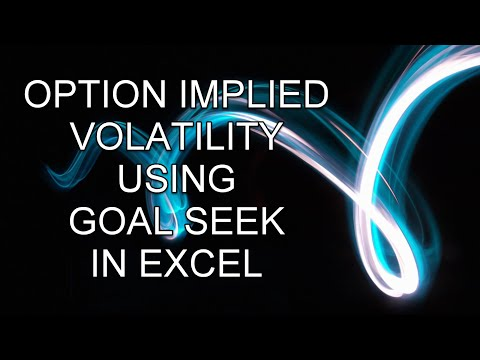 Finding Option Implied Volatility Using GoalSeek In Excel