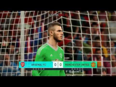 Arsenal Vs Manchester United I Premier League I PES 2018 Penalty Shootout