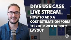 DIVI USE CASE: How to Add a Cost Estimation Form to your Site Using the Web Agency Layout