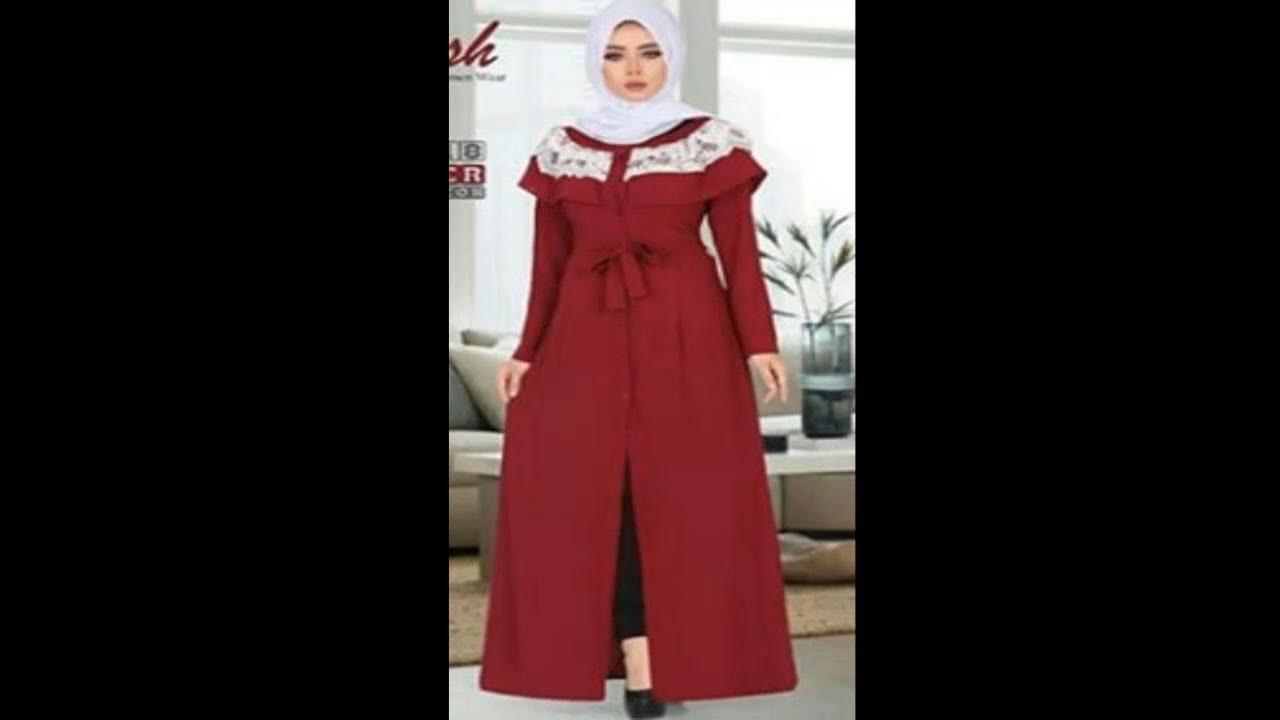 a0d643e30ed5d فستان للمحجبات بكلوشه علي الصدر ( الجزء الاول ) - YouTube