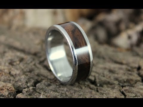 Damascus Steel Ring With Wood Inlay How To