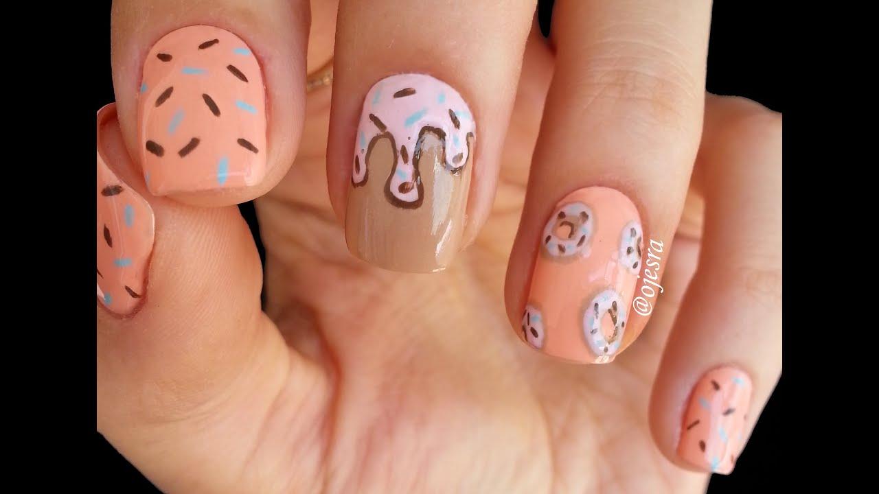 donut nail art trnak slemesi