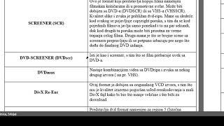 Video formati DVDRip, Scr, CAMRip