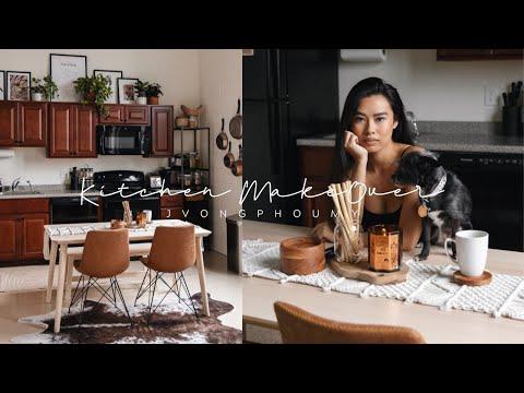 DIY KITCHEN MAKEOVER (Rental) | Jvongphoumy