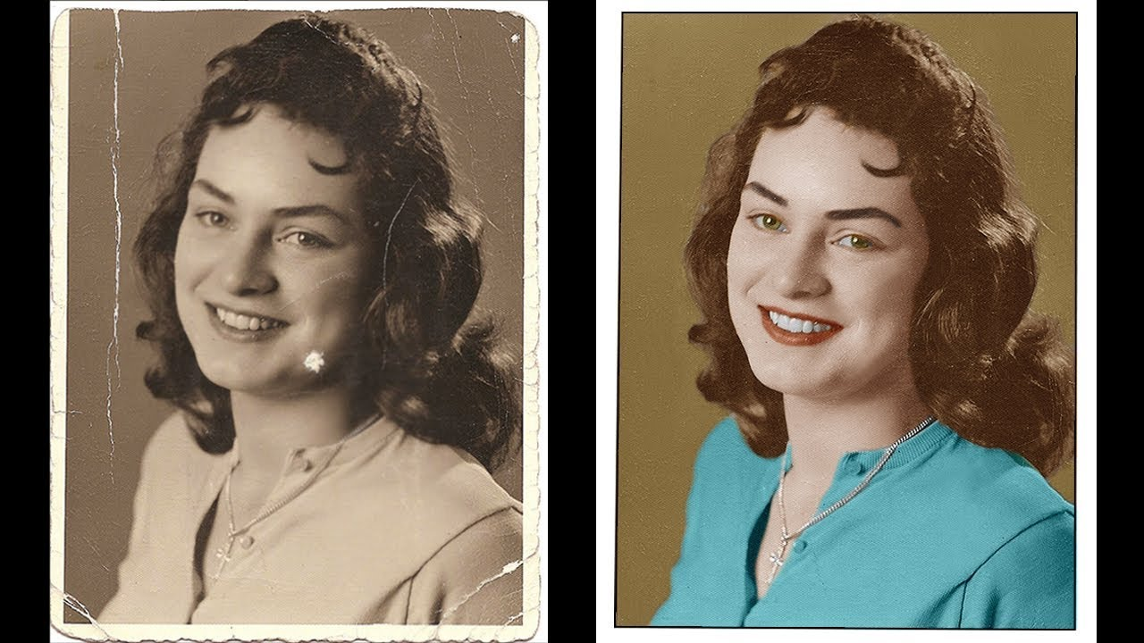 How To Restore and Repair Old Damaged Photo In Photoshop ...