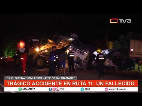 Accidente fatal en la ruta 11: murió un joven de 28 años