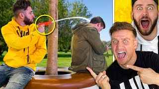 SECRETLY SQUIRTING STRANGERS IN PUBLIC!