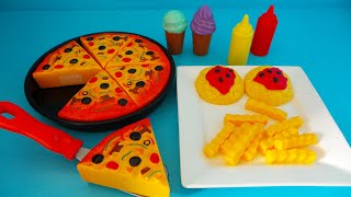 Speelgoed Pizza, patat en ijs uitpakken ~Unboxing Toy pizza, french fries and ice cream