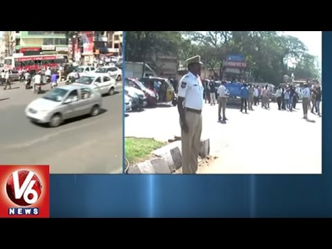 Hyderabad Traffic Police Pays Tribute To Mahatma Gandhi On His Death Anniversary   V6 News