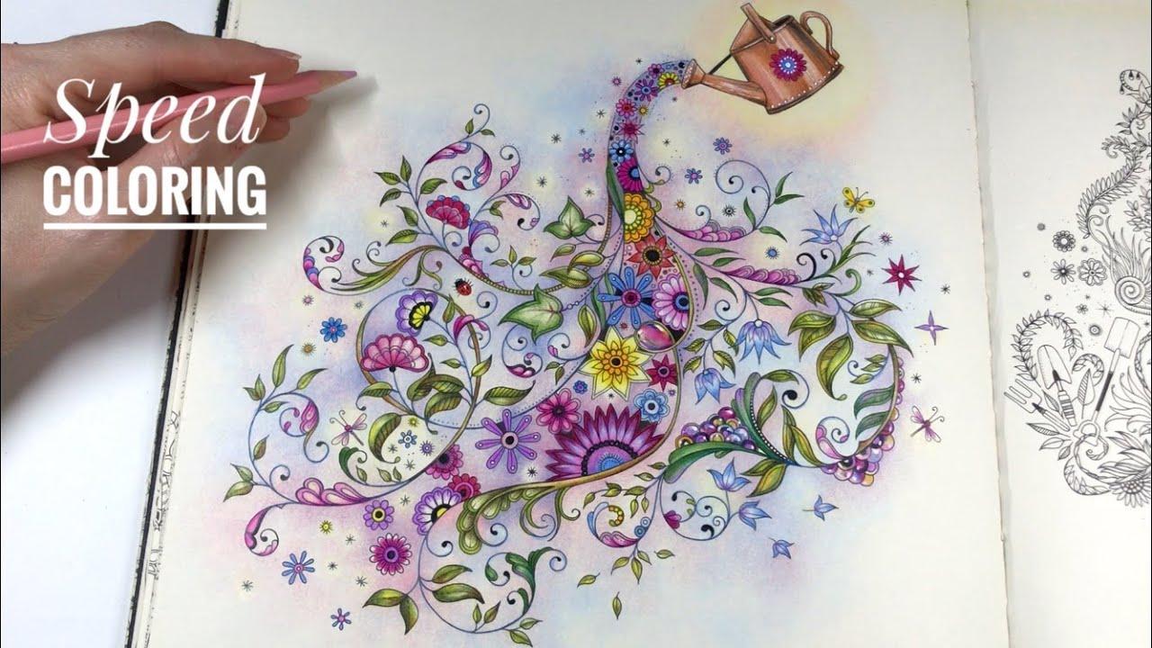 Step By Step Coloring Magic Garden Secret Garden Coloring Book Youtube