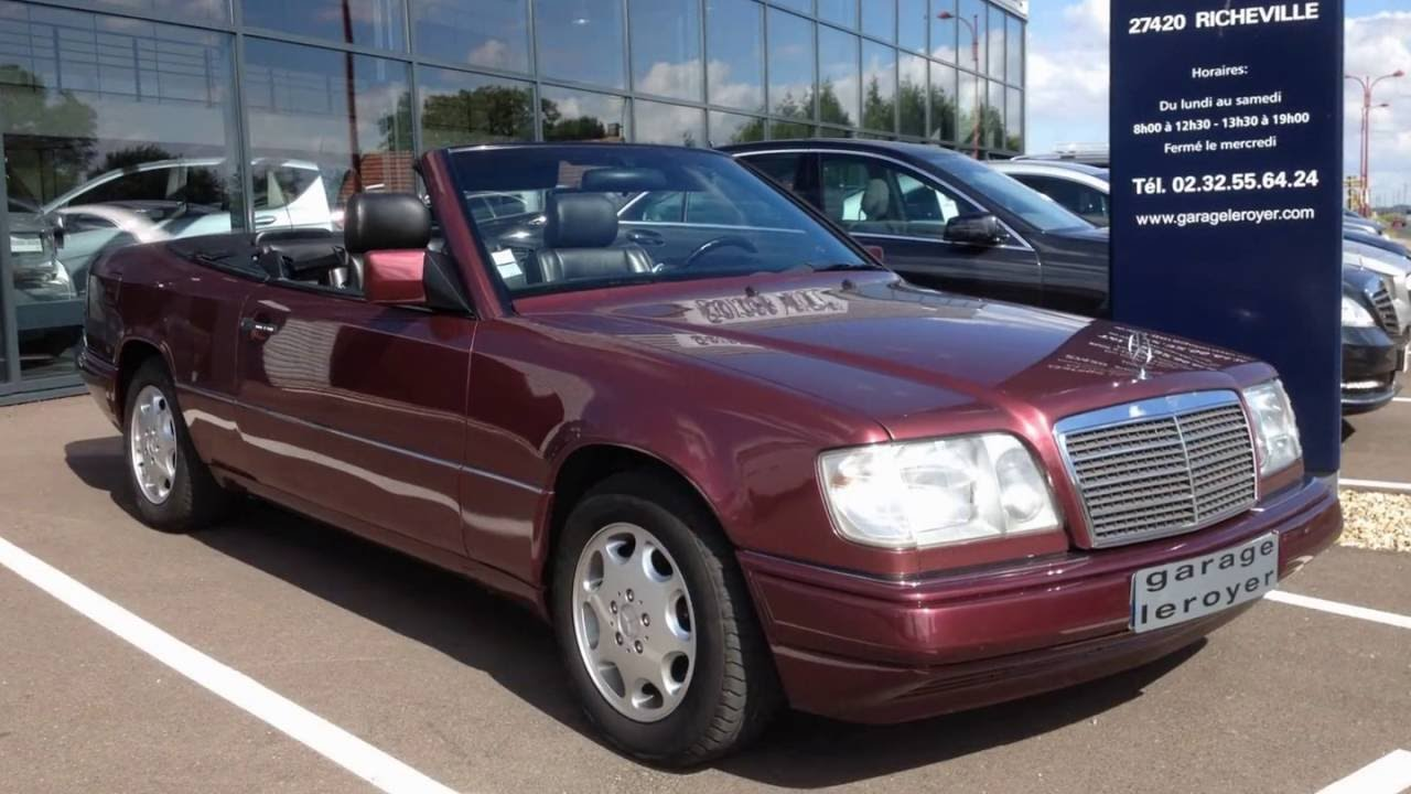 Mercedes classe e 200 w124 cabriolet youtube for Garage agree mercedes