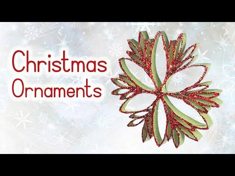 DIY Christmas crafts: CHRISTMAS ORNAMENTS form paper toilet rolls - Innova Crafts