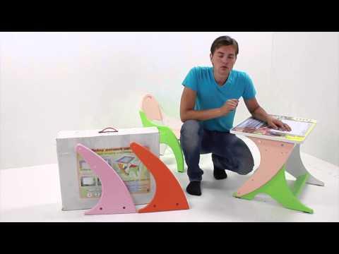Набор детской мебели стол парта мольберт Интехпроект