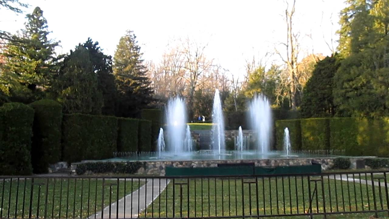 Longwood Gardens Fountain Show Youtube