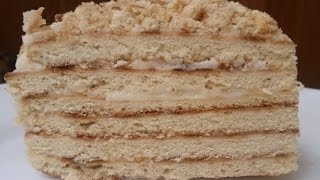 Торт на сковороде за полчаса.