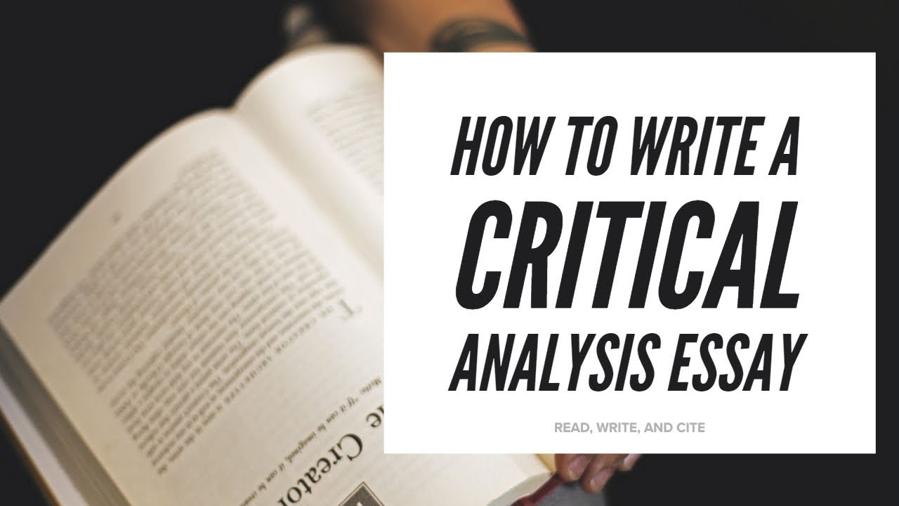 How to write a critical essay example