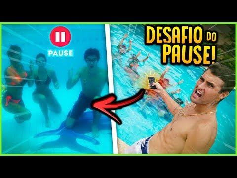 DESAFIO DO PAUSE EMBAIXO DA ÁGUA!! ( MAIS DIFÍCIL ) [ REZENDE EVIL ]