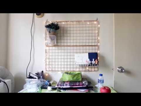 DIY Metal Grid Study Desk Decoration