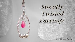 Sweetly Twisted Earrings Tutorial