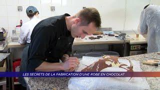Yvelines | Les secrets de fabrication d'une robe en chocolat