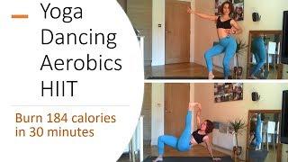 30 Minute FULL BODY FAT LOSS CARDIO Workout ! Yoga, aerobics, dancing, salsa and HIIT