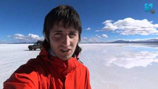 Солончак Уюни - между небом и землей - Попробуй! ЮА(Сложно найти более фантастическое место, чем солончак Уюни. Во время сезона дождей с солончаком происходят..., 2012-02-20T16:03:54.000Z)