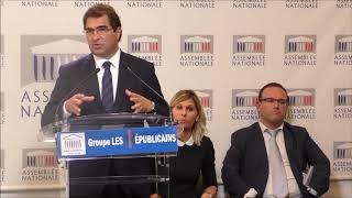 Conférence de presse du Président Christian Jacob du 03/10/2017