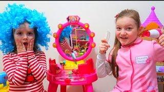 Sofia a Deschis Salon de Frumusete Sara and Sofia Pretend Play Hair Styling Beauty Salon