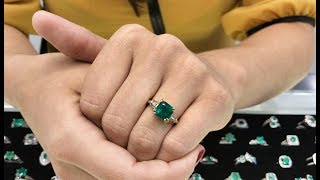 HOW TO LOOK FOR AND BUY COLOMBIAN EMERALD ENGAGEMENT RING