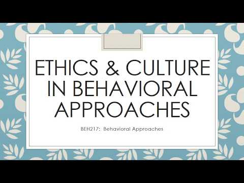 Ethics and Culture in Counseling